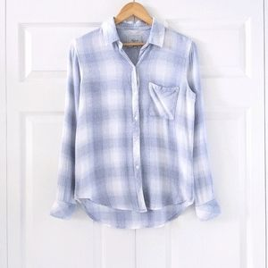 Rails Hunter White Sea Spray Plaid Shirt   XS
